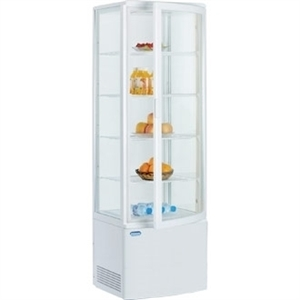 Polar Chilled Display with Curved Glass Door - 235Ltr