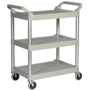 Rubbermaid Off White Compact Utility Trolley