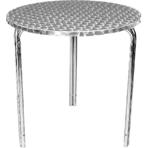 Bolero Bistro Round Table St/St with Curved Edge Dia - 600x720mm