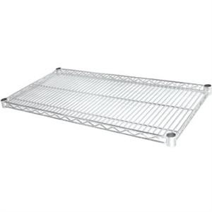 Vogue Chrome Shelves - 457x1525mm incl 8 pairs of clips (Pack 2)