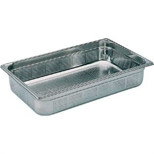 Bourgeat Stainless Steel Perforated 1/1 Gastronorm Pan 150mm