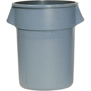 Rubbermaid Round Brute Container Grey - 121Ltr