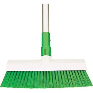 SYR Hygiene Broom Head Stiff Bristle Green