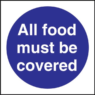 All Food Must Be Covered Sign
