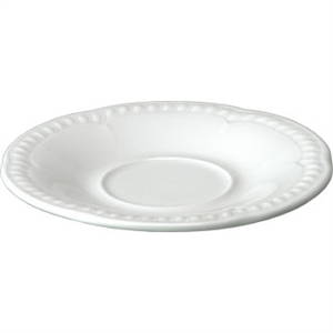 "Buckingham White Saucer 6"" (Box 24)"