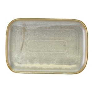 Terra Porcelain Matt Grey Rectangular Plate 34.5 x 23.5cm