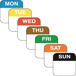 Day of the Week Labels Set (Pack of 1000)