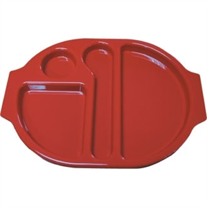 Food Compartment Trays Standard. Pack quantity: 10. Red