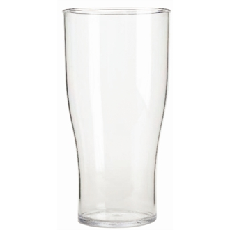 Polycarbonate Nucleated Beer Glasses 570ml CE Marked Pint (48pc)