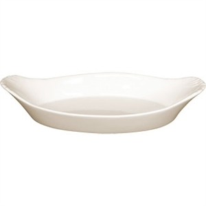 Ivory Oval Eared Dish 205x 115mm (Box 6)