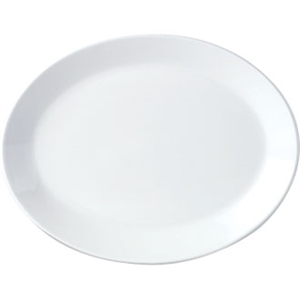 Steelite Simplicity White Oval Coupe Dishes 342mm (Box 12)