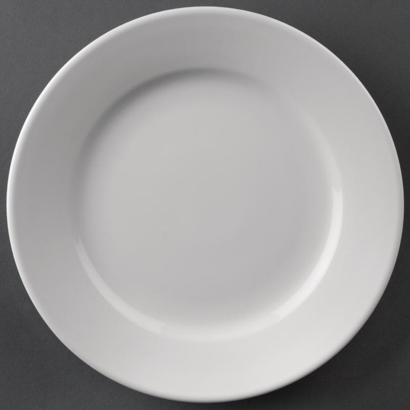 Athena Hotelware Wide Rimmed Plate 202mm ( Box 12)