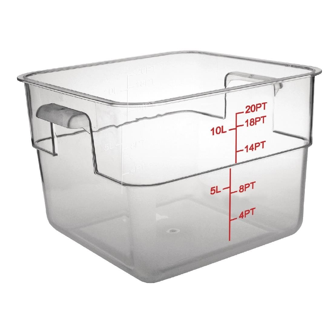 Polycarbonate Square Storage Container 10Ltr