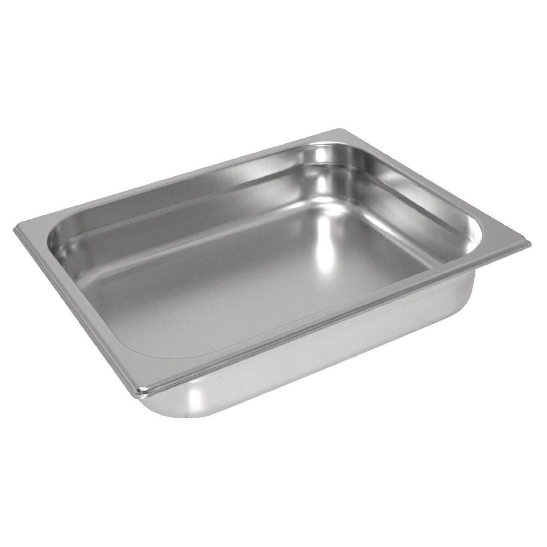 Vogue Heavy Duty Stainless Steel 1/2 Gastronorm Pan 65mm