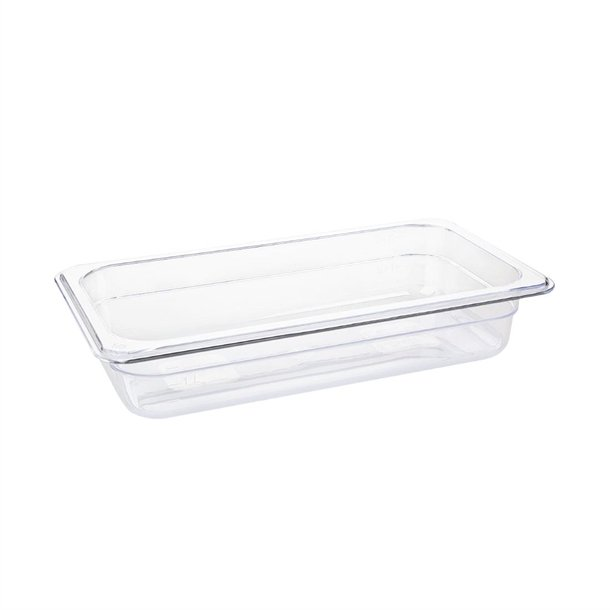 Vogue Polycarbonate 1/3 Gastronorm Container 65mm Clear