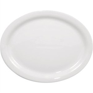 Olympia Whiteware Oval Plate/Platter - 20cm 8 (Box 6)