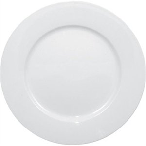 Olympia Whiteware Wide Rimmed Plate - 23cm 9 (Box 12)