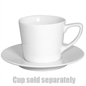 "Olympia Low Latte Saucer White 150(Ø)mm/ 6"". White. For Low Cup CE536 (Box 12)"