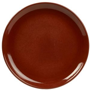 Terra Stoneware Rustic Red Coupe Plate 24cm