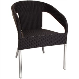 Bolero Wicker Wraparound Bistro Chair (Pack 4)