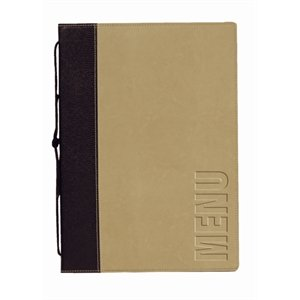 Contemporary Menu Holder - A4 Green. 1 Insert (4 pages)