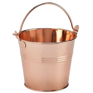 Stainless Steel Serving Bucket 10cm Dia Copper