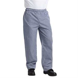 Whites Vegas Chefs Trousers Blue and White Check Unisex