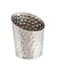 Stainless Steel Hammered Angled Cone 11.6 x 9.5cm Ø