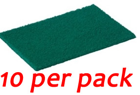 Green Scouring Pads (10 per pack)