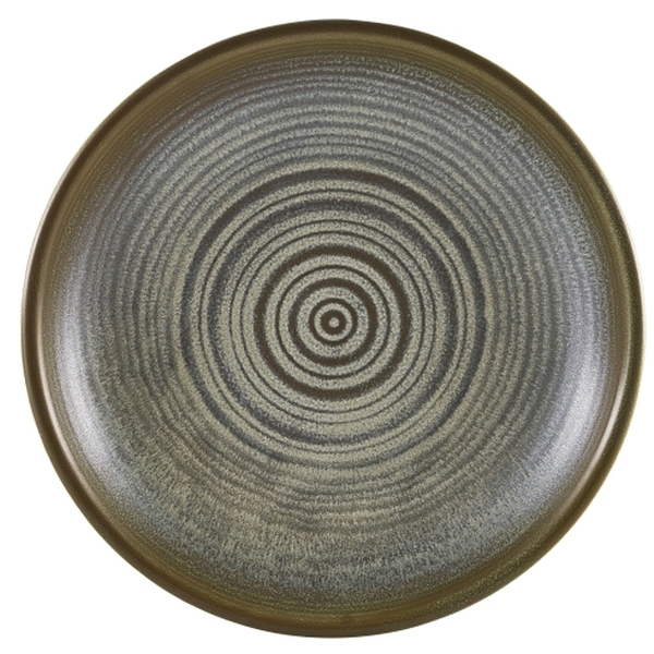 Terra Porcelain Matt Grey Deep Coupe Plate 21cm