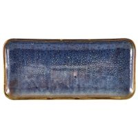 Terra Porcelain Aqua Blue Narrow Rectangular Platter 27 x 12.5cm