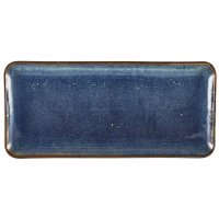 Terra Porcelain Aqua Blue Narrow Rectangular Platter 36 x 16.5cm
