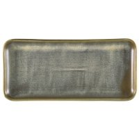 Terra Porcelain Matt Grey Narrow Rectangular Platter 27 x 12.5cm