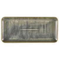Terra Porcelain Matt Grey Narrow Rectangular Platter 30 x 14cm