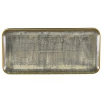 Terra Porcelain Matt Grey Narrow Rectangular Platter 36 x 16.5cm