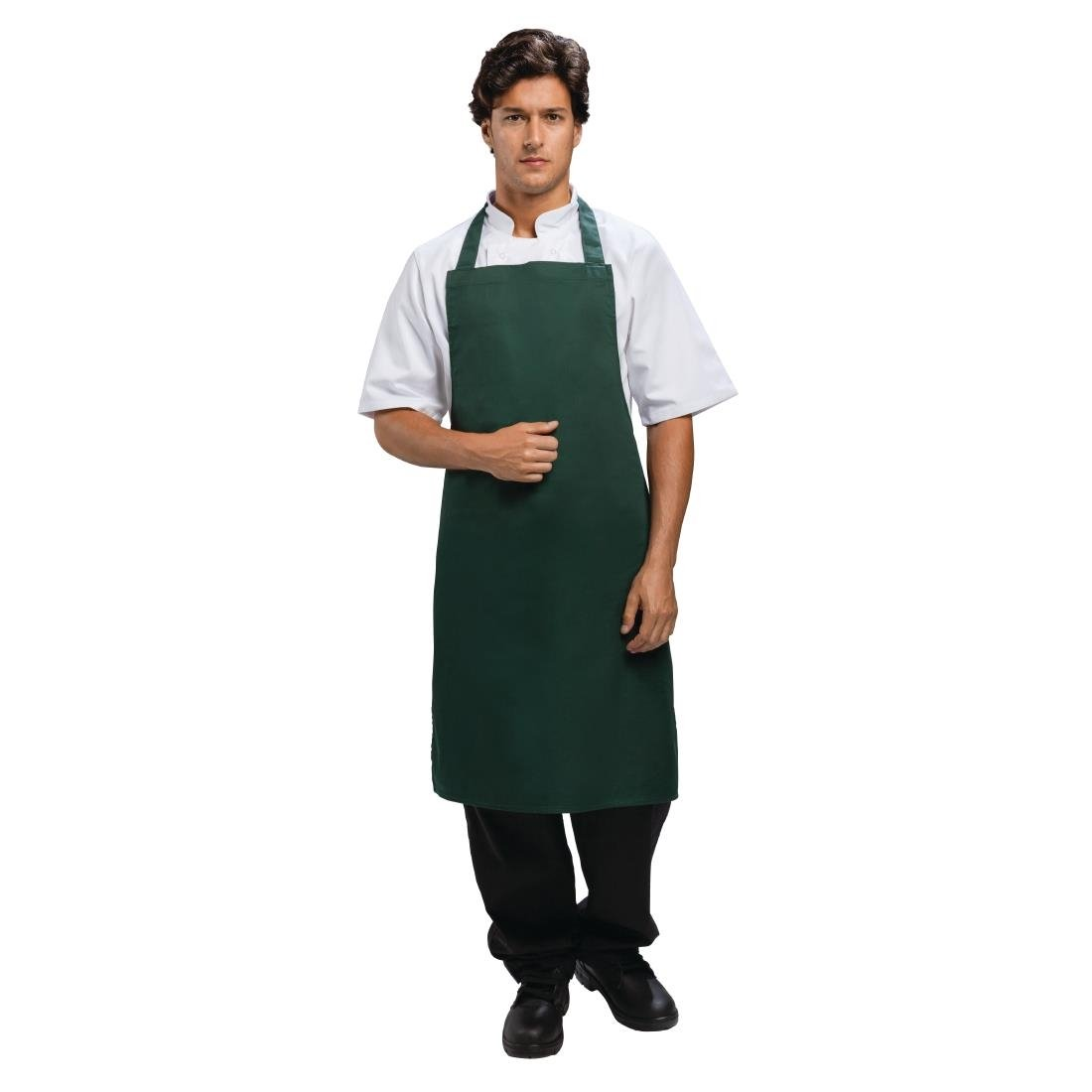 Bib Apron Polycotton Green