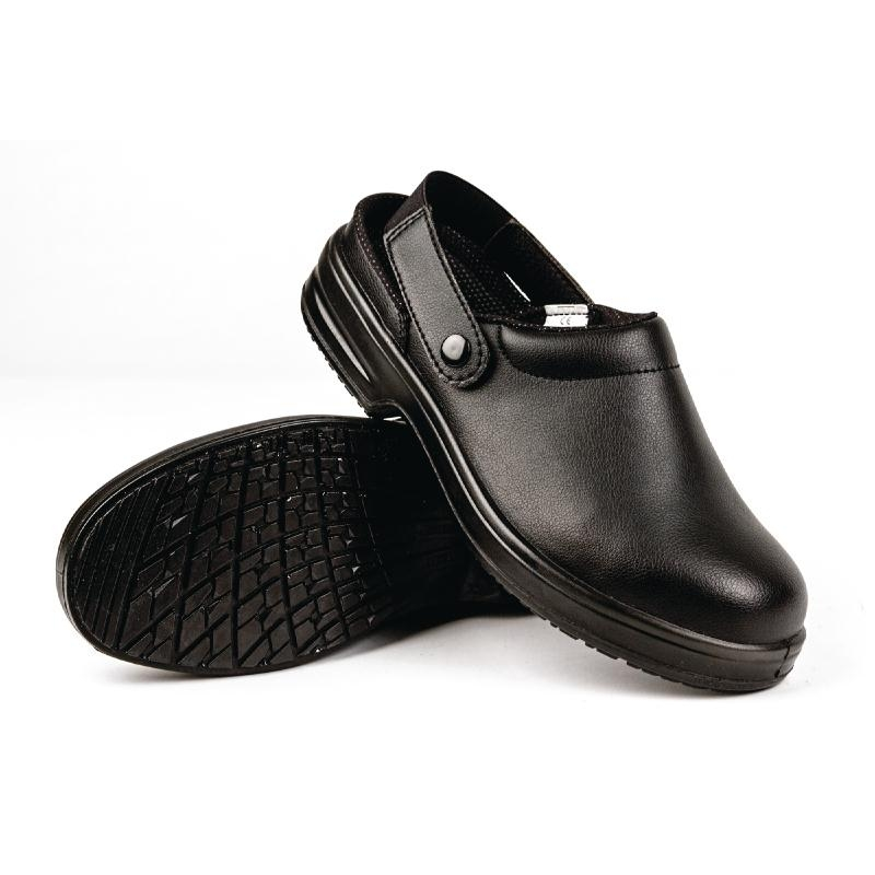 Lites Black Unisex Safety Clogs
