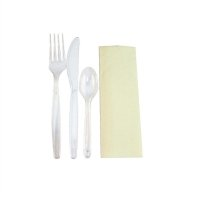 Plastico Deluxe Individually Wrapped Heavy-Duty Disposable Cutlery Sets (Pack of 200)