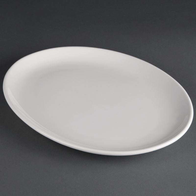 Athena Hotelware Oval Coupe Plate 305x 242mm ( Box 6)