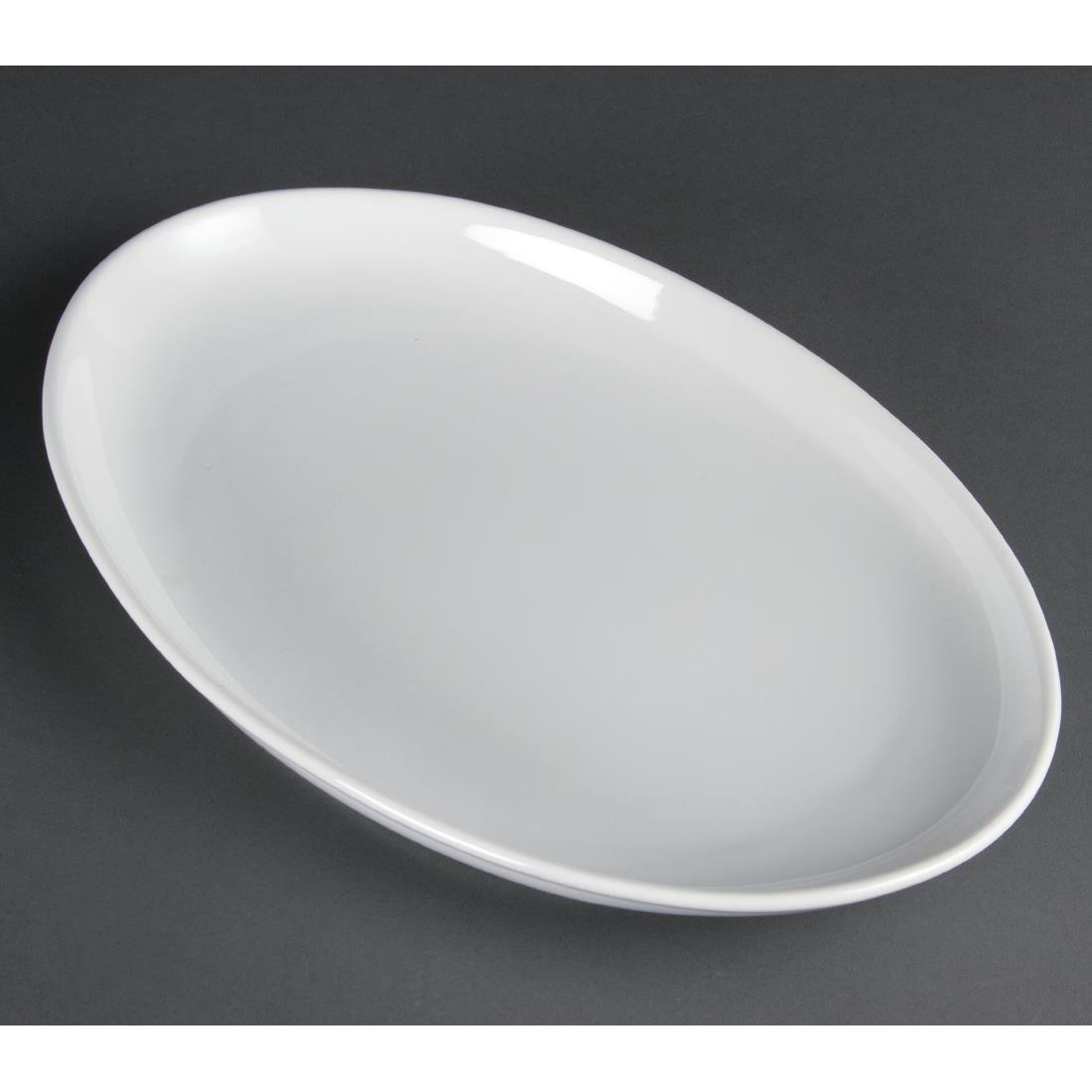 "Olympia French Deep Oval Plate White - 365mm 14 1/4"" (Box 2)"