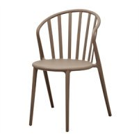Bolero PP Armchair (Pack of 4) Coffee