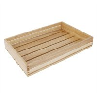 Olympia Low Sided Wooden Crate 350x230x60mm