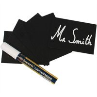 Securit Mini Chalkboard Tag Kit A8 52 x 74mm (pack 20) c/w Spikes & Holders & Markers