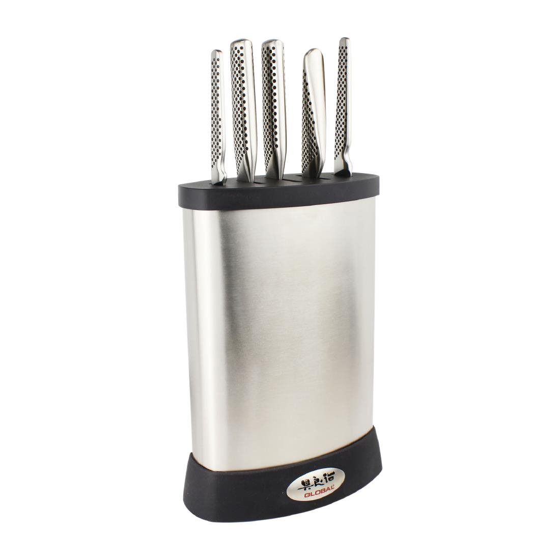 Global 5 Piece Knife Set with Block