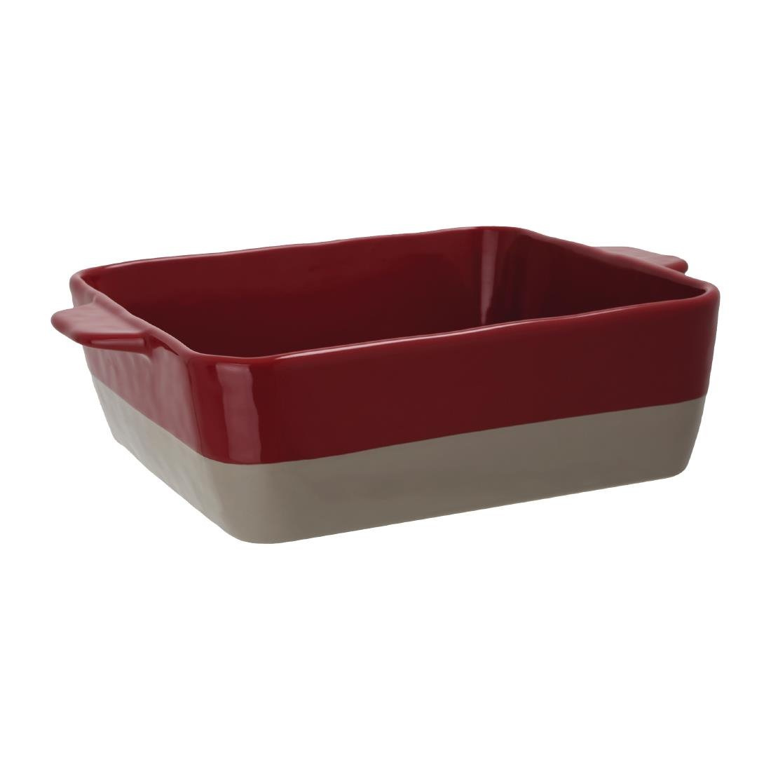 Olympia Red And Taupe Ceramic Roasting Dish 4.2Ltr