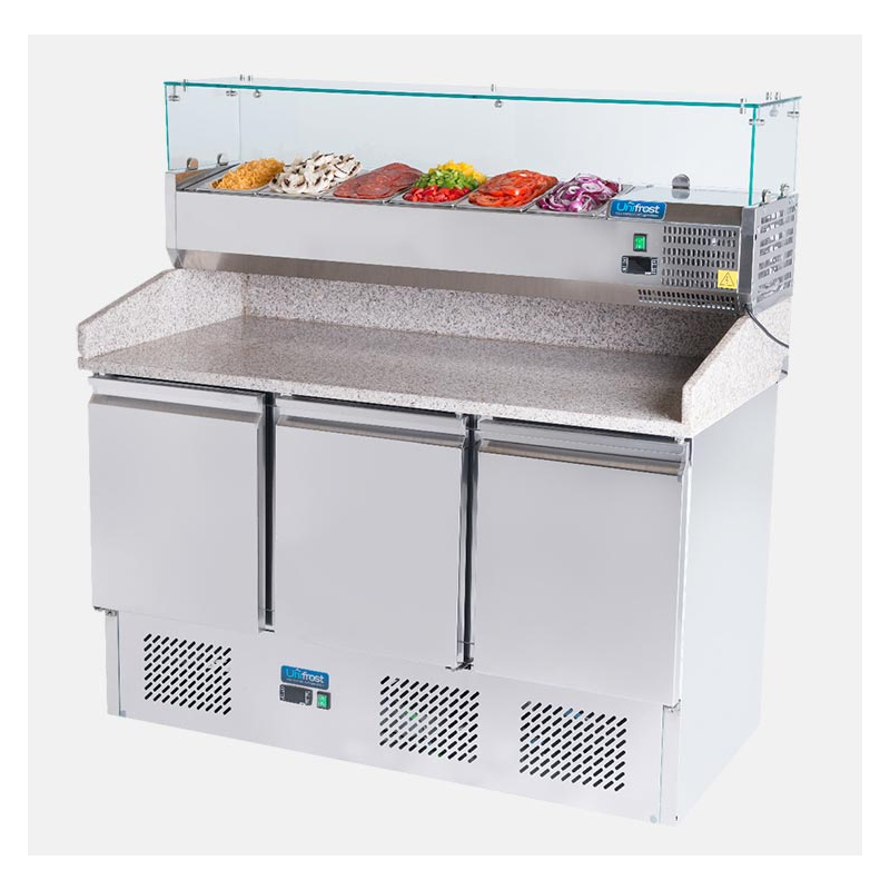 ESL3852GR-PZ Pizza Prep Fridge with Chilled toppings unit