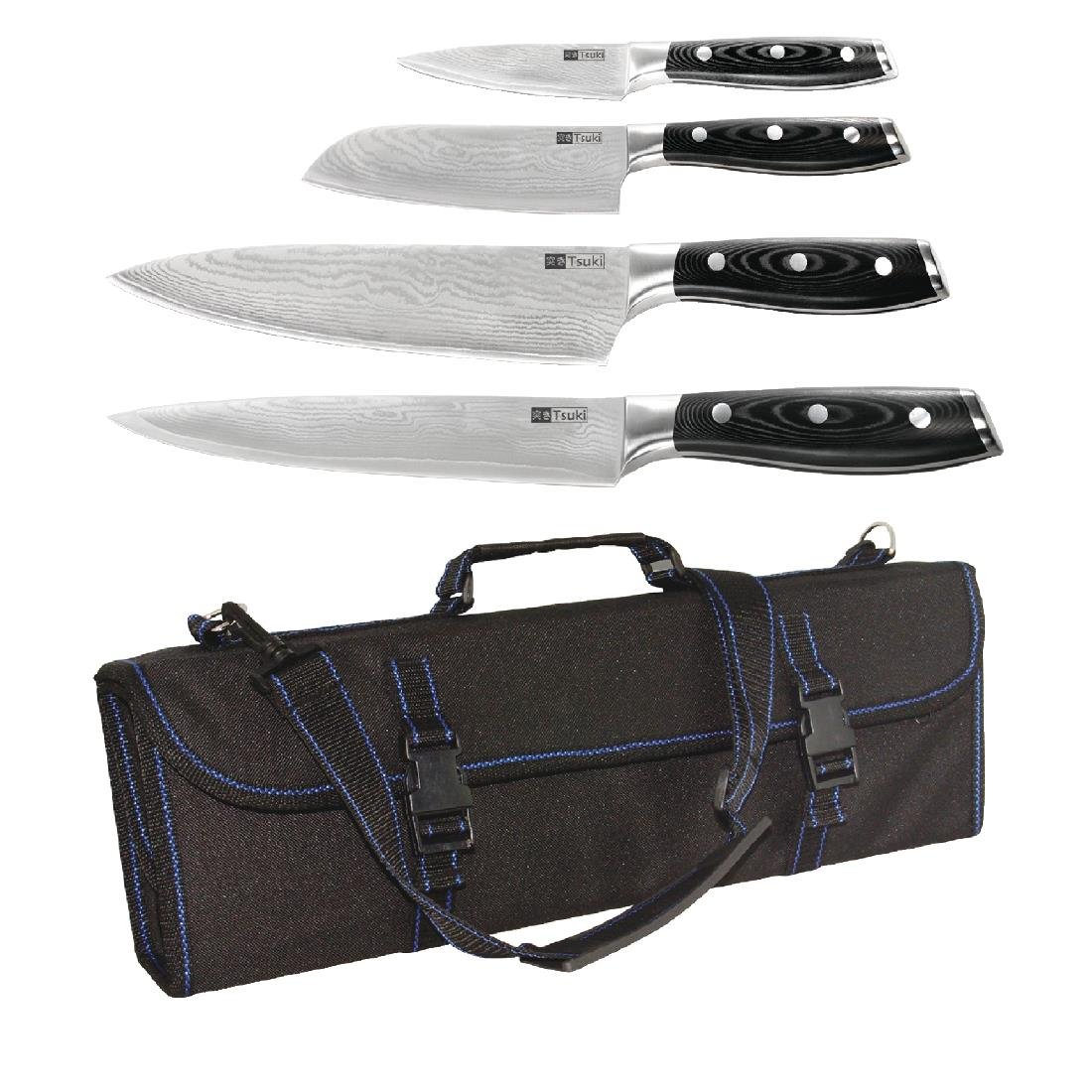 SPECIAL OFFER Tsuki 4 Piece Series 7 Knife Set and Case