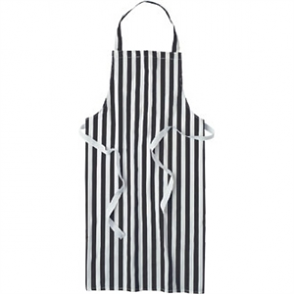 Bib Apron (Black & White Stripe)