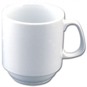 Olympia Whiteware Stacking Mug - 10oz (Box 12)