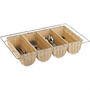 Rattan Cutlery Dispenser